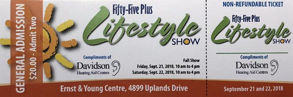 2018 Fifty-Five Plus Lifestyle Show Ticket