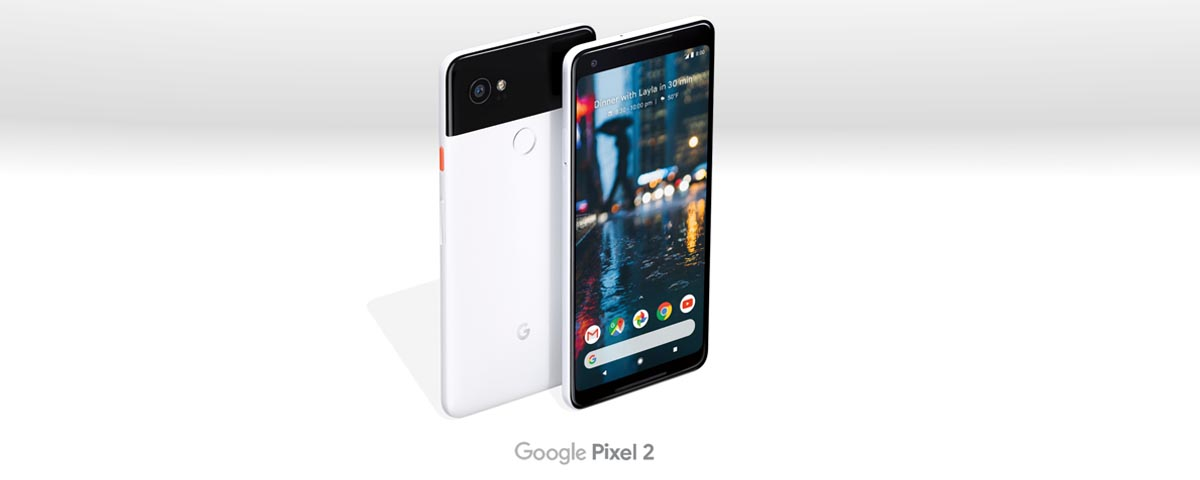 Google Pixel 2 Android phone front and back