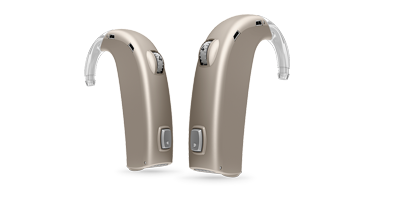 Oticon dynamo hearing aids in chroma beige