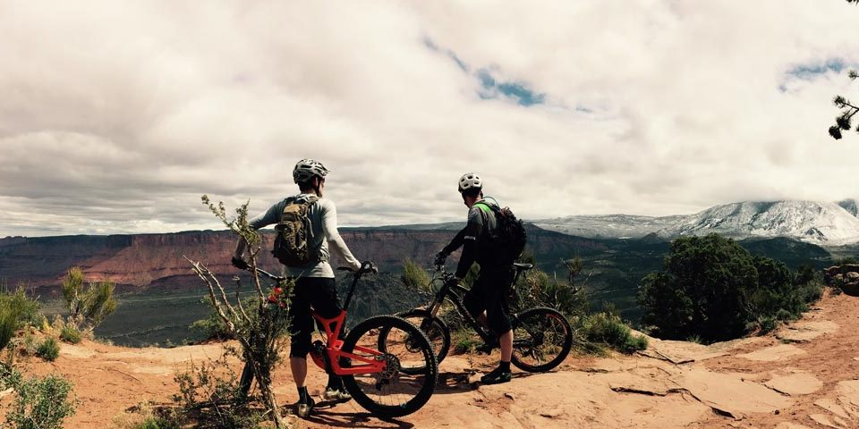 Out getting exercise on the mountain bikes in Utah