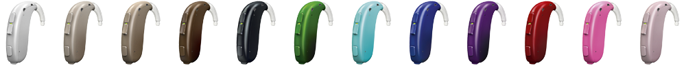 Oticon Xceed Play hearing aid colours